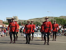 Rcmp canada day parade. Stock Images