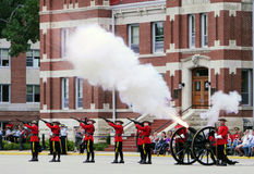 RCMP Cannon Fire Stock Photos