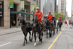 RCMP escort carriage Stock Image