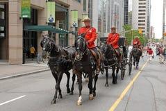 RCMP escort carriage Stock Image