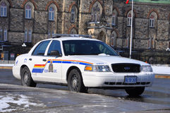 RCMP Ford Crown Victoria Police Car in Ottawa, Canada stock afbeelding