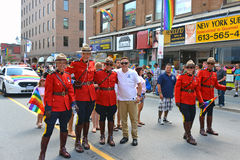RCMP in Gay Pride Parade Ottawa Royalty Free Stock Photos