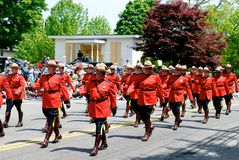 RCMP march Stock Images