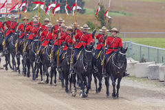 RCMP Musical Ride in Ancaster, Ontario Royalty Free Stock Photography