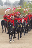 RCMP Musical Ride in Ancaster, Ontario. Our proud RCMP performing their Musical Ride performance at the Ancaster Fairgrounds at 630 Trinity Road in Ancaster Stock Photography