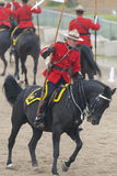 RCMP Musical Ride in Ancaster, Ontario. Our proud RCMP performing their Musical Ride performance at the Ancaster Fairgrounds at 630 Trinity Road in Ancaster Stock Photos