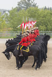 RCMP Musical Ride in Ancaster, Ontario. Our proud RCMP performing their Musical Ride performance at the Ancaster Fairgrounds at 630 Trinity Road in Ancaster Stock Image