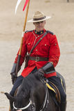 RCMP Musical Ride in Ancaster, Ontario. Our proud RCMP performing their Musical Ride performance at the Ancaster Fairgrounds at 630 Trinity Road in Ancaster Royalty Free Stock Photos