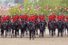 RCMP Musical Ride in Ancaster, Ontario Stock Photo
