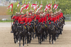 RCMP Musical Ride in Ancaster, Ontario Stock Image