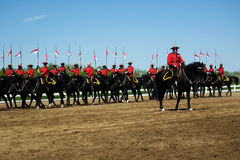 RCMP Musical Ride Review Royalty Free Stock Photos