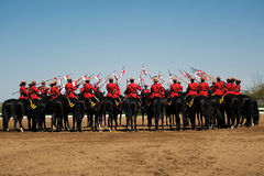 RCMP Musical Ride Review Stock Photos