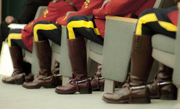 RCMP Officers Sitting Royalty Free Stock Photos