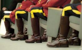 RCMP-Offizier-Sitzen Lizenzfreie Stockfotos