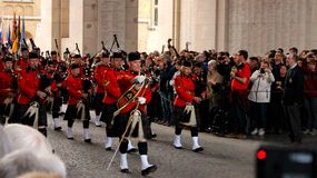 RCMP Parade in Ypres Royalty Free Stock Image