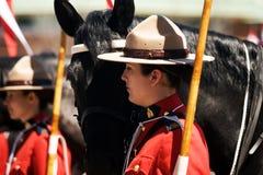 RCMP przejażdżki Muzykalny przegląd Zdjęcia Royalty Free