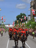 RCMP riding in Canada Day, Ottawa. RCMP riding in 2011 Canada Day, Ottawa, Ontario Royalty Free Stock Images