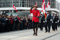 RCMP salutes Royalty Free Stock Image