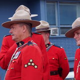 RCMP Waiting For Parade To Start Stock Images