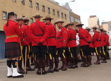 RCMP Waiting For Parade To Start Royalty Free Stock Photography