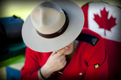 RCMP y Stetson fotografía de archivo