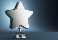Récompense argentée d'étoile Image libre de droits