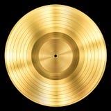 Récompense record de disque de musique d'or d'isolement Image libre de droits