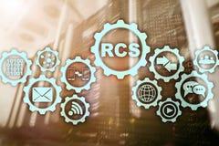 RCS Rich Communication Services protocolo de comunica??o Conceito da tecnologia fotos de stock