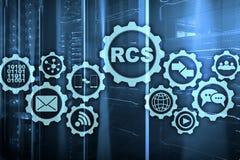 RCS Rich Communication Services Protocolo do ommunication do  de Ñ Conceito da tecnologia foto de stock royalty free