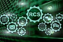 RCS Rich Communication Services Protocolo do ommunication do ¡ de Ð ConceptÑŽ da tecnologia fotos de stock