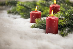 3rd Advent candles Stock Photos