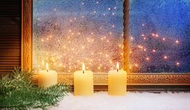 3rd Advent, Window decorations Stock Image