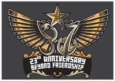 23 rd anniversary of Pre-Cadet Class 37 royalty free illustration