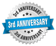 3rd anniversary round isolated badge Stock Photos