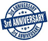 3rd anniversary stamp Royalty Free Stock Photography