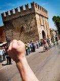 98 rd-Autogiro d Italien (Ausflug von Italien) - radfahrend Lizenzfreie Stockfotografie