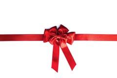 röd bandwhite för bow Arkivbilder