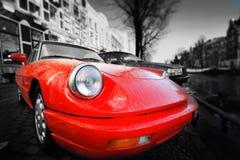 Röd bil Royaltyfri Foto