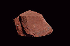 Rd dolomite. Red dolomite isolated in black bacground Stock Images
