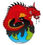 Röd drake Arkivbild