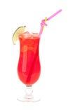 Röd drink Arkivbilder