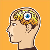 3rd Eye Vector illustration Royalty Free Stock Photography
