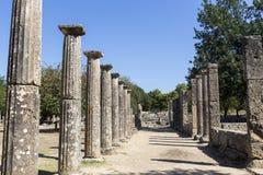 3rd för centgreece för b c palaestra för olympia monument B C ) i Olympia Grekland Royaltyfria Bilder