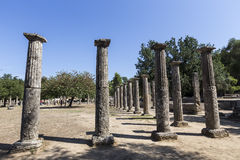 3rd för centgreece för b c palaestra för olympia monument B C ) i Olympia Grekland Arkivfoto