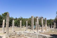 3rd för centgreece för b c palaestra för olympia monument B C ) i Olympia Grekland Arkivbilder