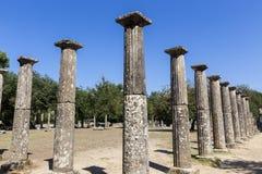 3rd för centgreece för b c palaestra för olympia monument B C ) i Olympia Grekland Royaltyfria Foton