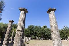 3rd för centgreece för b c palaestra för olympia monument B C ) i Olympia Grekland Royaltyfri Fotografi