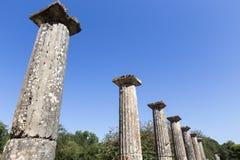 3rd för centgreece för b c palaestra för olympia monument B C ) i Olympia Grekland Arkivfoton