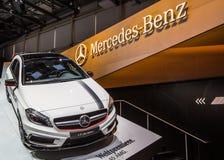 83rd Geneva Motorshow 2013 - Mercedes-Benz A45 AMG Arkivfoto