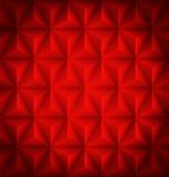 Röd geometrisk abstrakt låg-poly pappers- bakgrund Arkivbild